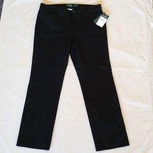 Ralph Lauren Adelle Straight Leg Pants 10P NWT